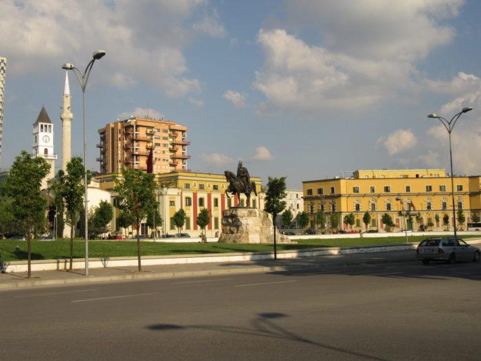 downtown tirana