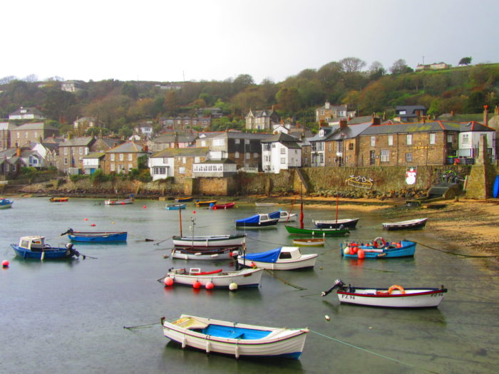Mousehole, Cornwall in the rain