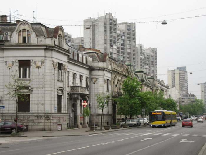 A main street in Belgrade