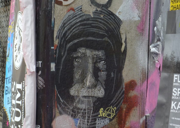 Homeless faces in Berlin street art