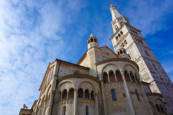 Cathedral and Ghirlandina Tower in the town of Modena