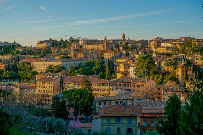 The postcard-perfect town of Perugia