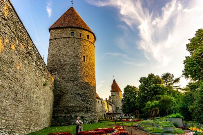 Old City Walls in Tallinn, Estonia