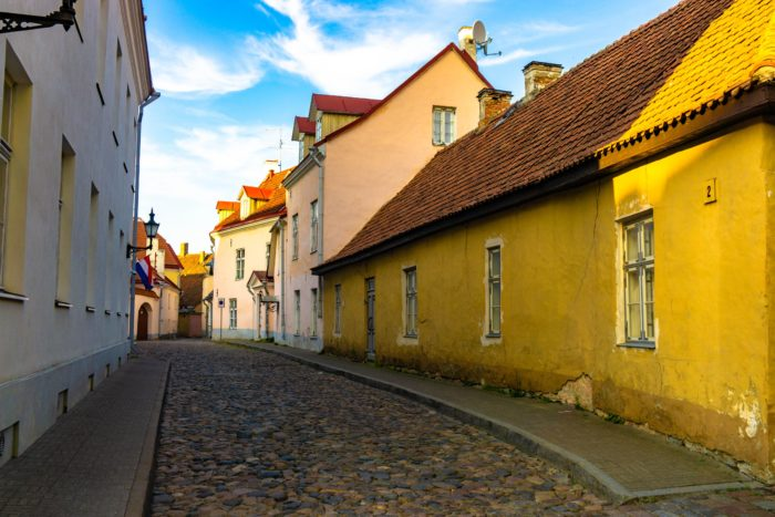 Winding back alleys in Tallinn