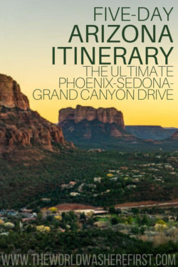 5-Day Arizona Itinerary: A Phoenix-Sedona-Grand Canyon Drive ... on us map showing grand canyon, map from phoenix to death valley, map of grand canyon and surrounding cities,