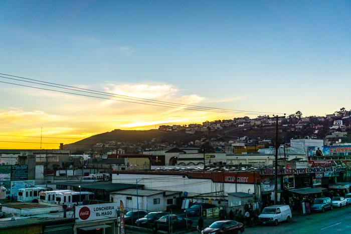 Sunset over Ensenada from Alta Baja Cervecería