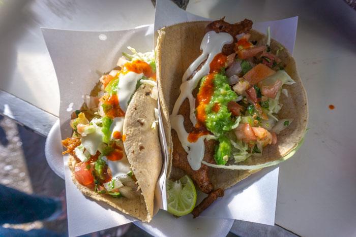 Fish tacos from Tacos Fenix in Ensenada