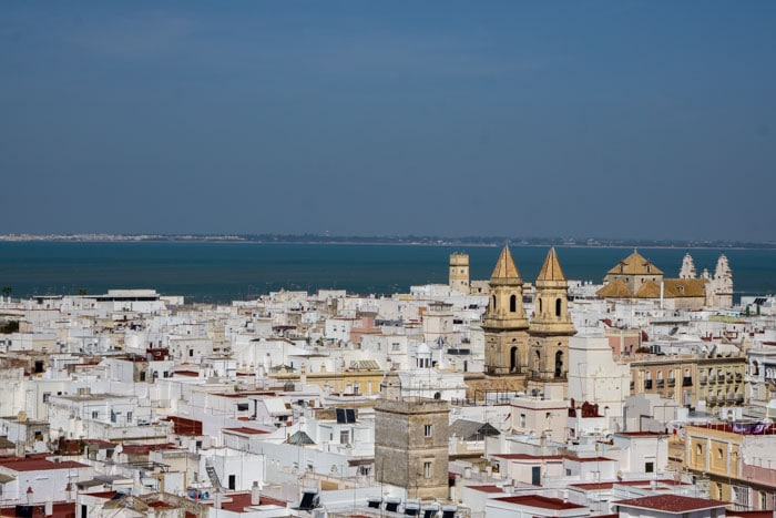View from Torre Tavira in Cádiz