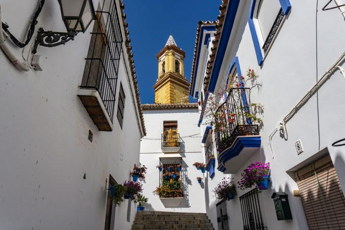 The charming streets of Estepona