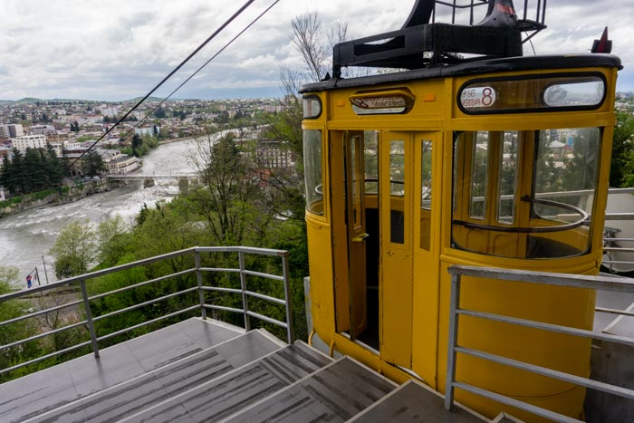 The cable car across the Rioni River