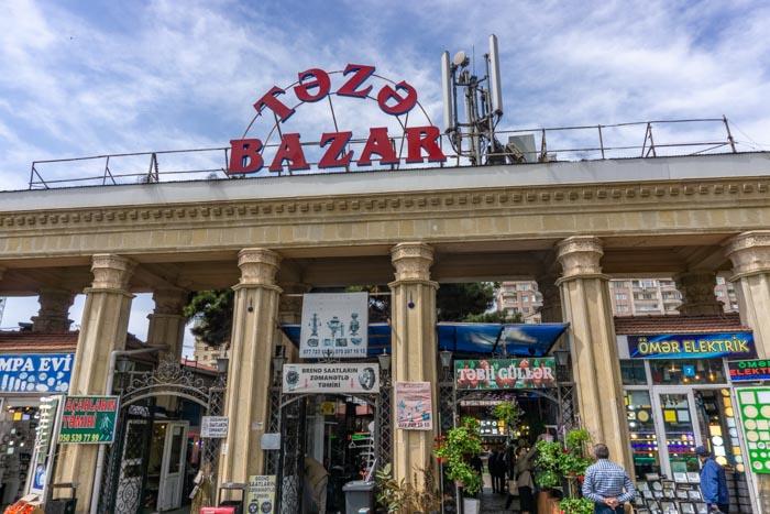Baku itinerary: taza bazaar