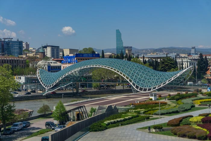 Seeing the peace bridge one of the best things to do in Tbilisi