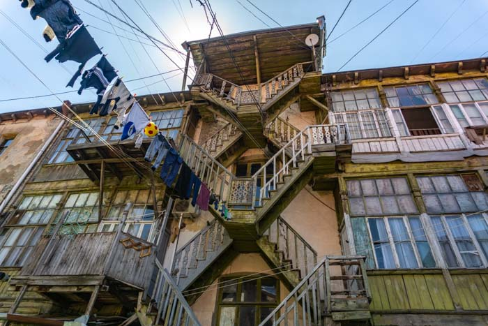 Tbilisi traditional balconies