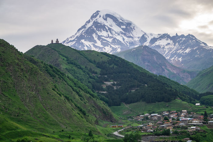 View of Mount Kazbek is worth seeing on your Georgia itinerary