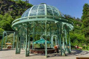 Georgia itinerary: Borjomi mineral water pavilion
