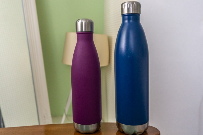 A reusable water bottle is an invaluable travel item