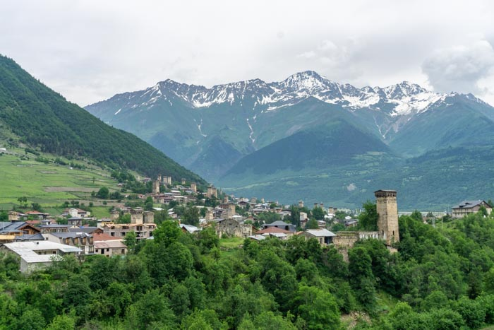 The town of Mestia is easily reachable from Tbilisi, Kutaisi, Batumi & Zugdidi