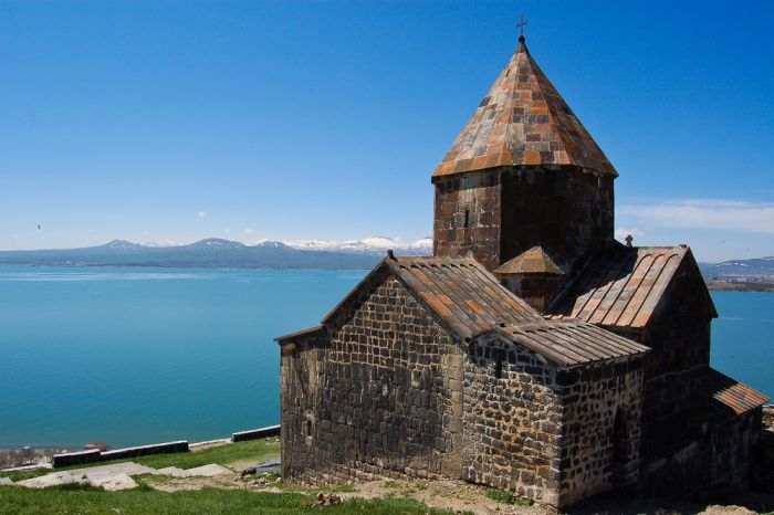 lake sevan is a great stop when driving from yerevan to dilijan