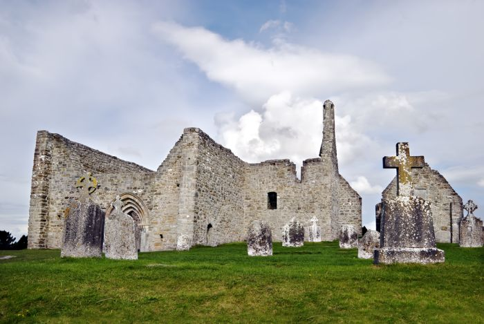 Clonmacnoise Monastery on the Dublin to Galway Drive