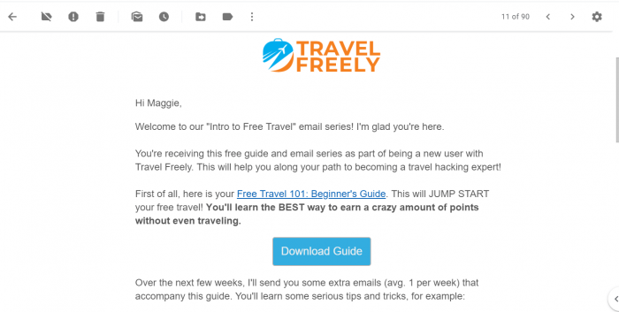 Travel Freely Email