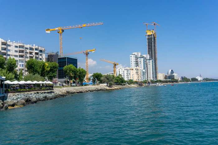 Limassol is more built up compared to Larnaca or Paphos