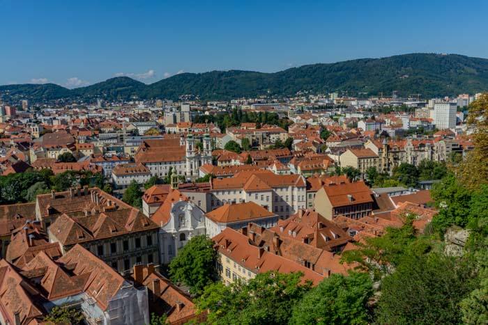 Beautiful views of Graz