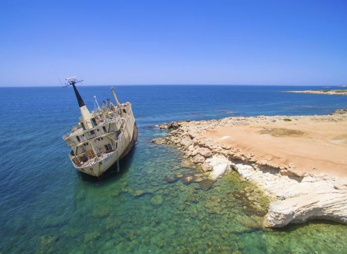 EDRO III Shipwreck is a great thing to see in Paphos