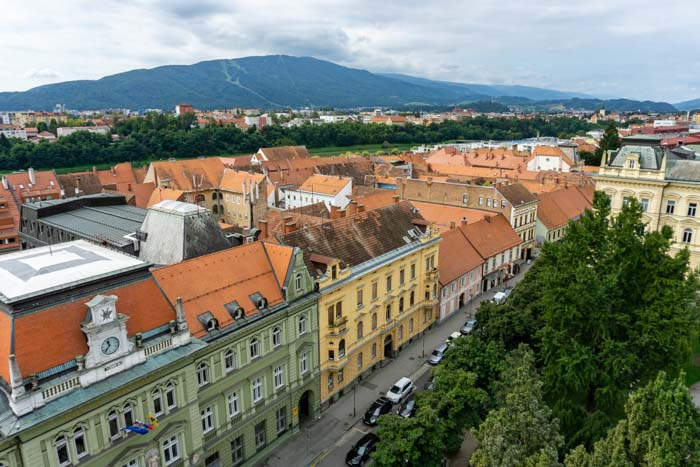 View of Maribor from the Cathedral