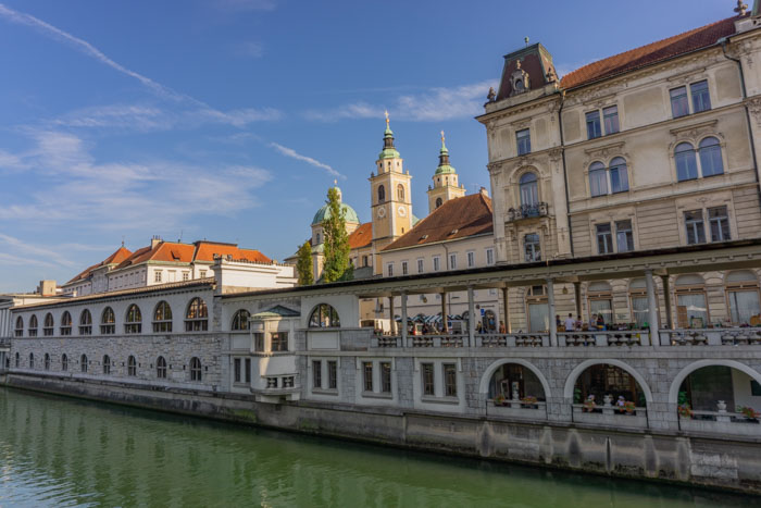 Strolling along the river is a great way to end your day in Ljubljana