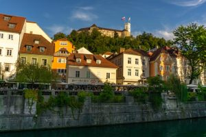 Ljubljana's lovely riverside
