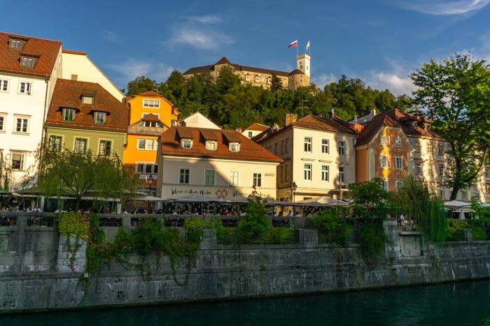 Ljubljana's lovely riverside