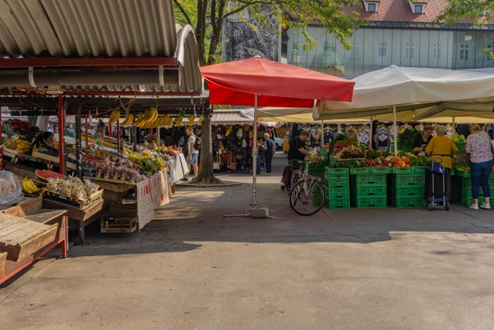 The Central Market in Ljubljana is a great place to pick up snacks for your one or two days in Ljubljana