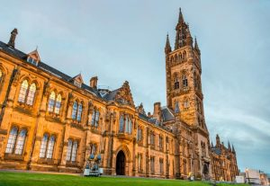 The University of Glasgow is a great place to visit when spending a weekend in Glasgow