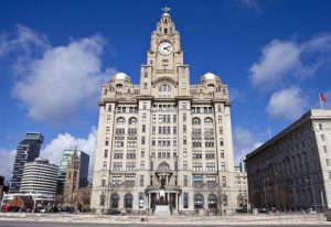 The historic Royal Liver Building in Liverpool