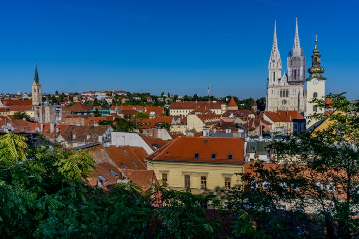 Visiting Zagreb is a good first stop on a croatia itinerary