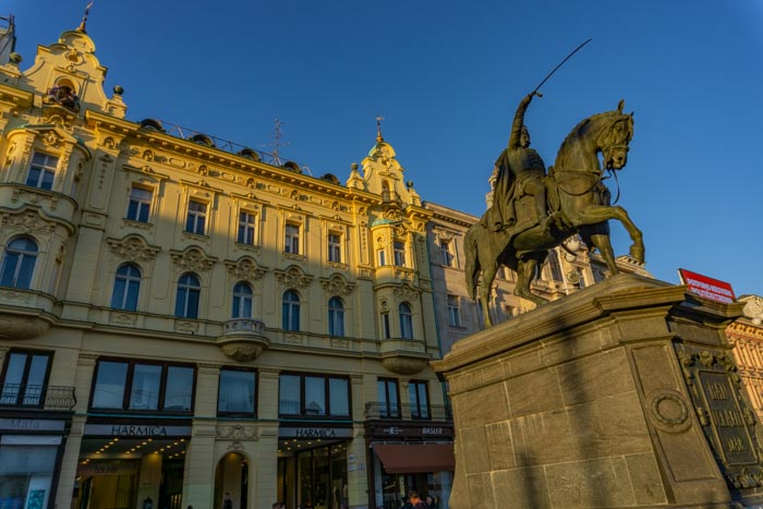 Ban Jelacic Trg is the perfect place to start your one day in Zagreb itinerary