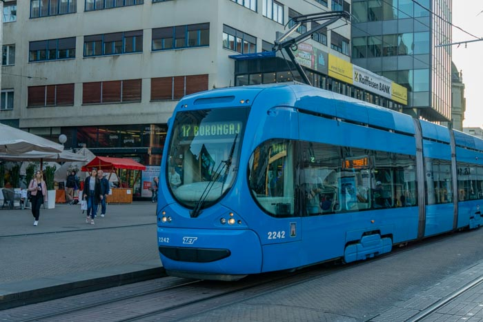 Trams are a great way to get around in Zagreb