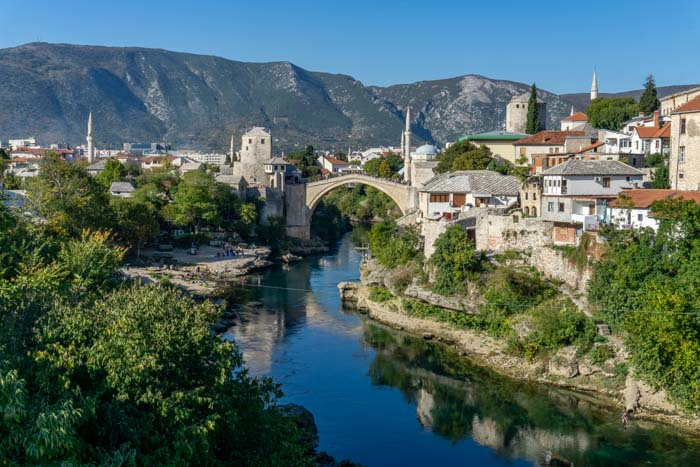 View of Mostar from Lucki Most