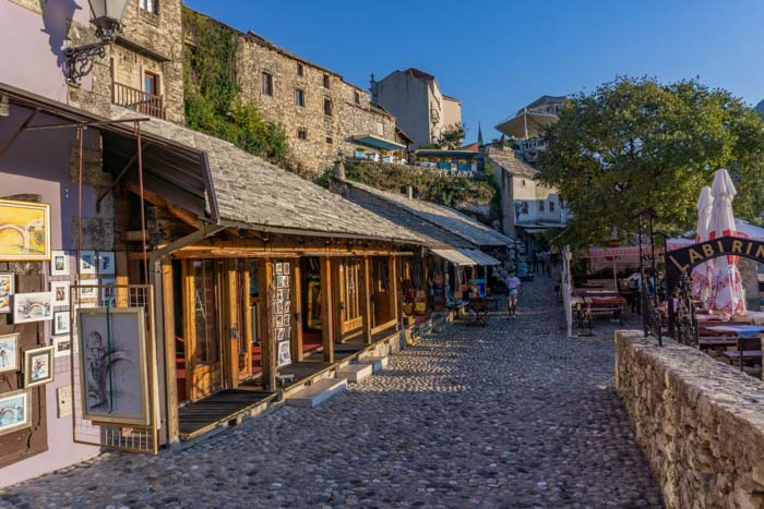 Mostar Old Town is quieter in the evening