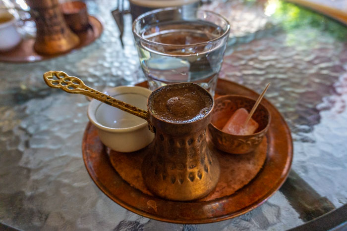 Trying Bosnian coffee is a must do on a Split to Mostar day trip