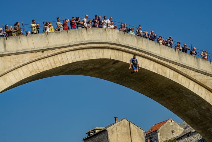 Seeing divers jumping from Stari Most is one of the top things to do in Mostar