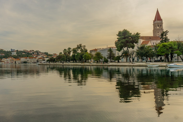 Trogir is the last stop on the Zagreb to Split drive