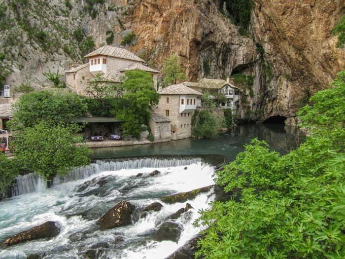Blagaj is a common spot on a Mostar day trip from Sarajevo