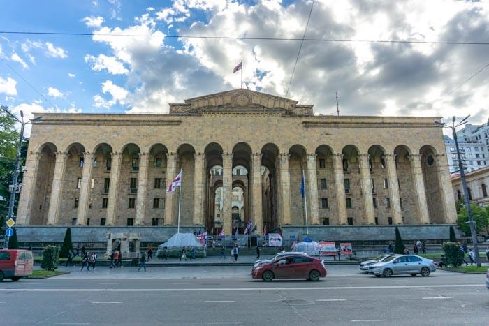 Georgian Parliament on Rustaveli Avenue