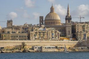 View of Valetta from Sliema Harbour