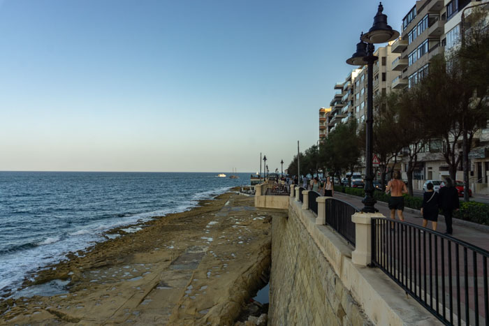 Walking along the promenade is one of the top things to do in Sliema, Malta