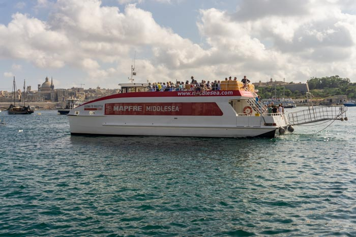 "If you're wondering ""Is Malta Expensive?"" Then the Sliema to Valetta Ferry won't break the bank!"
