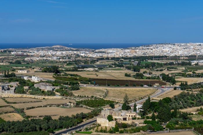 City Walls View from Mdina, Malta