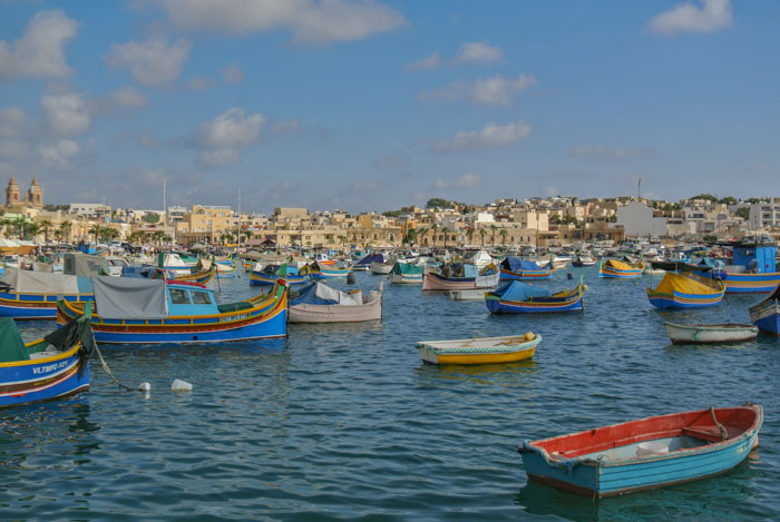 The fishing village of Marsaxlokk is worth adding to your Malta itinerary