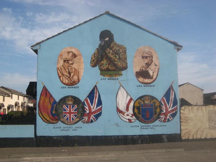 A mural in Belfast